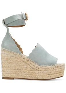 Chloé Lauren espadrille sandals - Blue