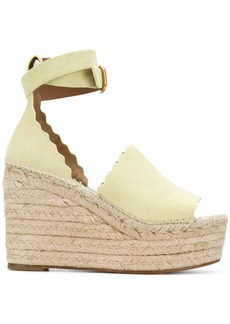 Chloé Lauren espadrille sandals - Yellow & Orange