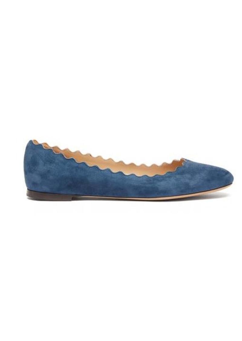 Chloé Lauren scallop-edge leather ballet flats