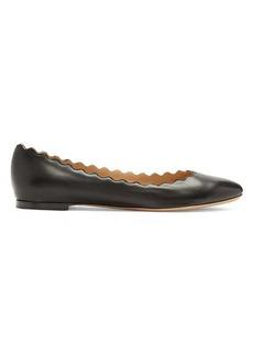 Chloé Lauren scallop-edge leather flats
