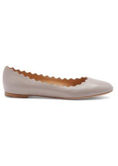 Chloé Lauren scallop-edged leather ballet flats
