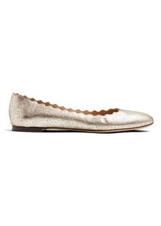 Chloé Lauren scallop-edged leather flats