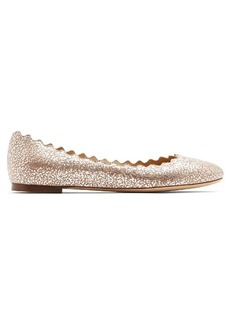 Chloé Lauren scallop-edged leather flats
