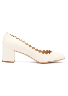 Chloé Lauren scallop-edge leather pumps