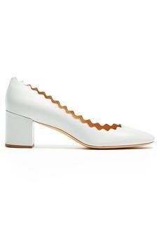 Chloé Lauren scallop-edge leather pumps