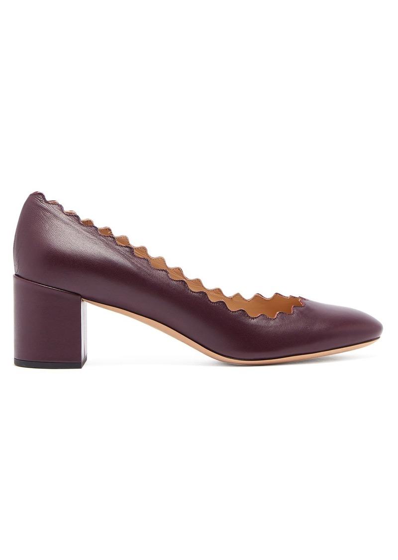 d6b0a54b9c81 Chloé Chloé Lauren scallop-edge leather pumps