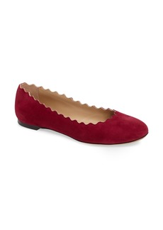 Chloé 'Lauren' Scalloped Ballet Flat (Women)
