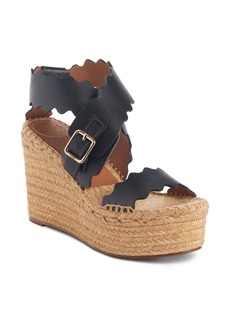 Chloé Lauren Scalloped Wedge Platform Sandal (Women)