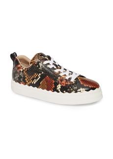Chloé Lauren Snake Embossed Sneaker (Women) (Nordstrom Exclusive)