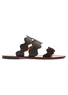 Chloé Lauren suede and leather slides