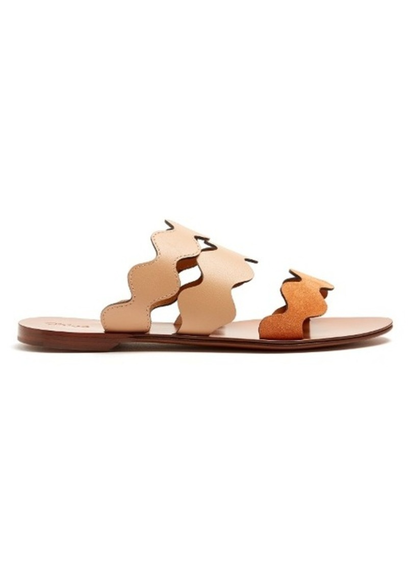 Chloé Lauren triple-strap leather slides