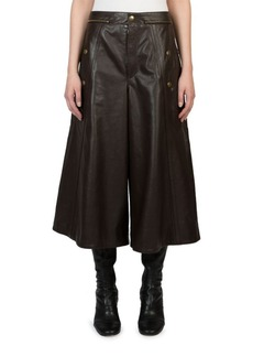 Chloé Leather Zipped Culottes