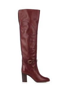 Chloé Lenny leather knee-high boots