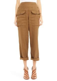 Chloé Linen & Cotton Twill Pants