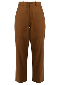 Chloé Linen and cotton-blend trousers