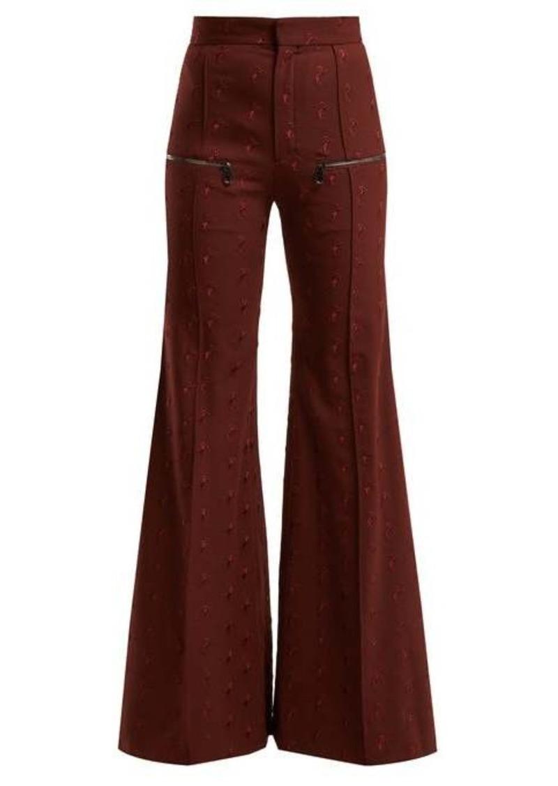 Chloé Little Horses high-rise wool-blend trousers