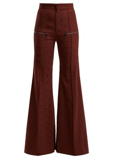 Chloé Little Horses high-rise wool-blend trousers
