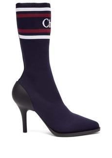 Chloé Logo-intarsia sock boots