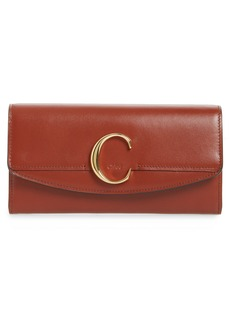 Chloé Long Calfskin Leather Flap Wallet