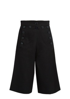 Chloé Long-length wool and cotton-blend shorts