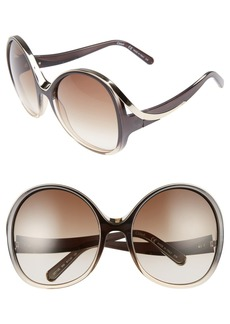 Chloé Mandy Oversized Oval 61mm Sunglasses