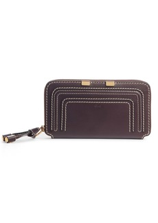 Chloé Marcie Leather Zip-Around Wallet