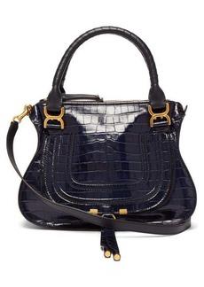 Chloé Marcie medium crocodile-embossed leather bag