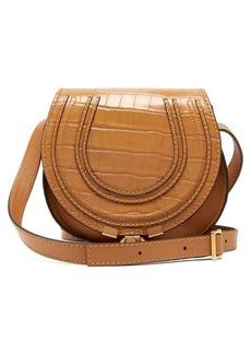 Chloé Marcie mini croc-effect leather cross-body bag