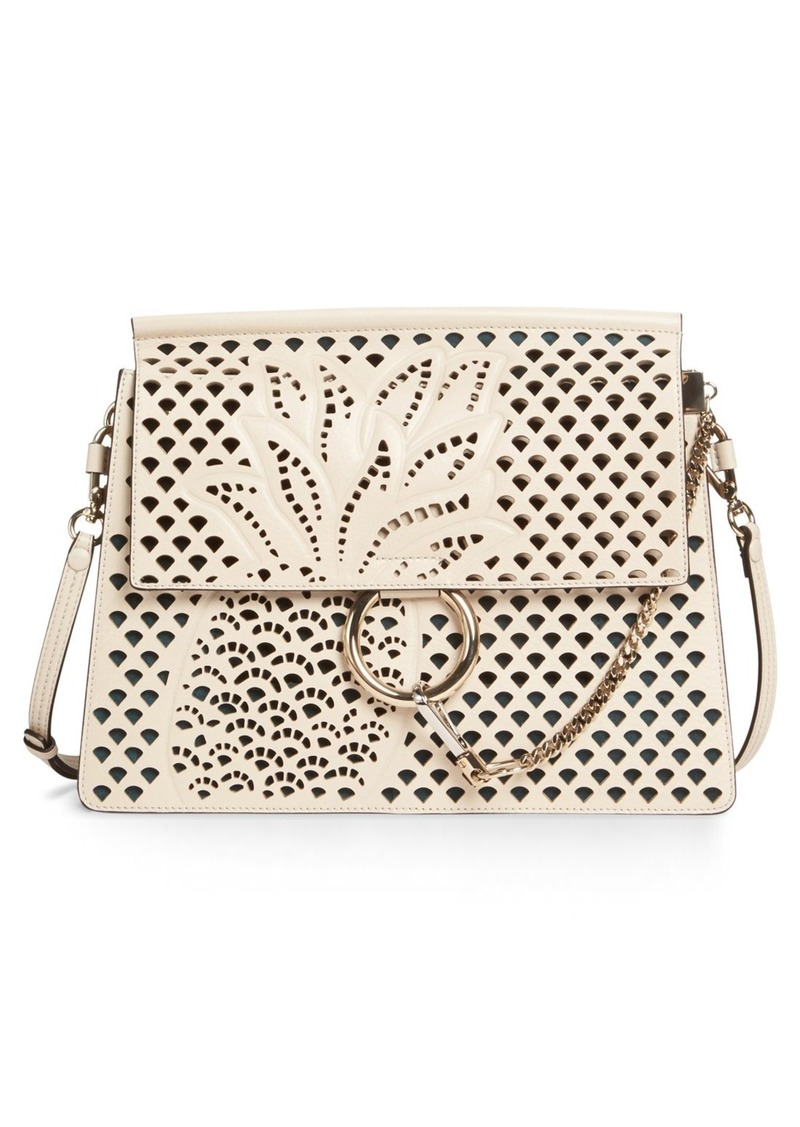 Chloé Faye Perforated Leather Shoulder Bag