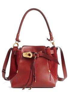 Chloé Medium Owen Calfskin Leather Bucket Bag