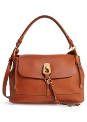 Chloé Medium Owen Calfskin Leather Satchel