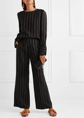 Chloé Metallic striped crepe wide-leg pants