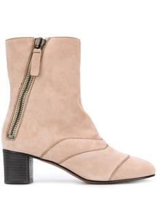 Chloé mid-calf length boots - Pink & Purple