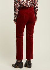 Chloé Mid-rise cotton-blend corduroy trousers