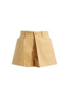 Chloé Mid-rise cotton-gabardine shorts