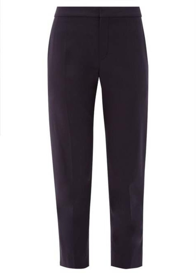 Chloé Mid-rise cropped wool-blend trousers