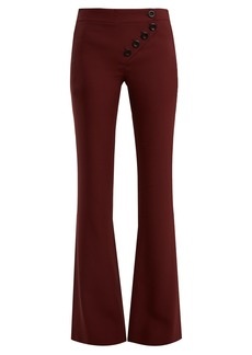 Chloé Mid-rise flared cady trousers