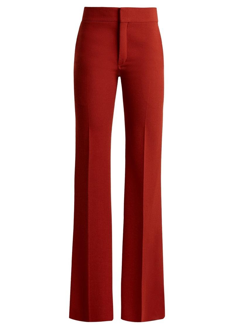 51defe717884e1 Chloé Chloé Mid-rise flared crepe trousers | Casual Pants