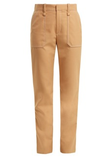 Chloé Mid-rise straight-leg crepe trousers