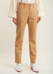 Chloé Mid-rise straight-leg crepe trousers