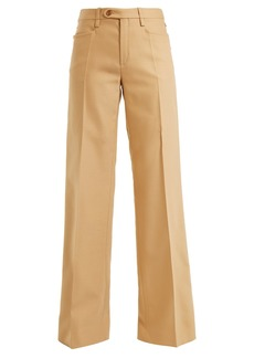 Chloé Mid-rise tailored wool-blend trousers