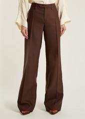 Chloé Mid-rise wide-leg wool-blend trousers