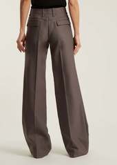 Chloé Mid-rise wide-leg wool-blend trousers
