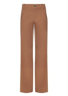 Chloé Mid-rise wide-leg wool trousers