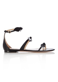 Chloé Mike bow-front leather sandals