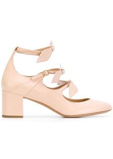 Chloé Mike leaf strap pumps - Pink & Purple