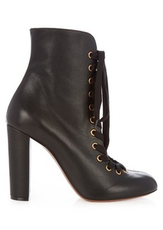 Chloé Miles lace-up leather ankle boots