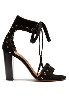 Chloé Miles lace-up suede sandals