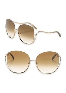 Chloé Milla 64MM Oversized Butterfly Sunglasses