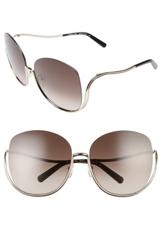 Chloé Milla 64mm Oversize Sunglasses